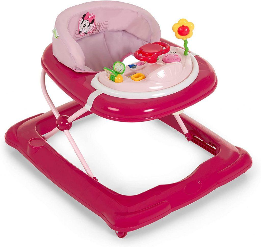 Ce trotteur Minnie est rose.