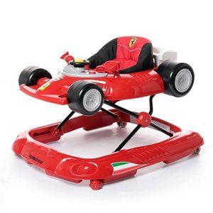 Le trotteur Ferrari ressemble à une voiture de formule 1.