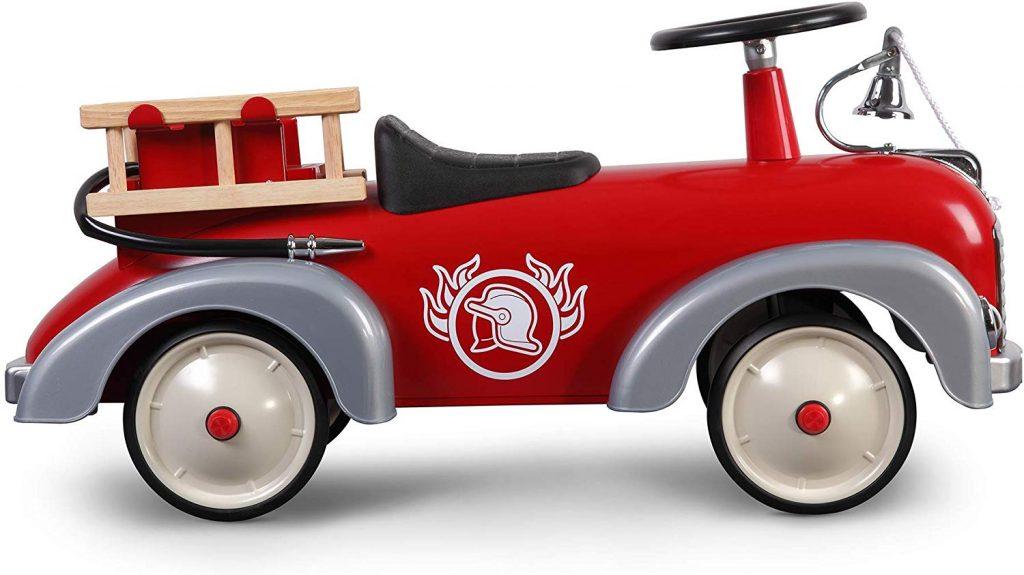 Le porteur pour bébé Speedster Pompier a un look vintage très stylé.