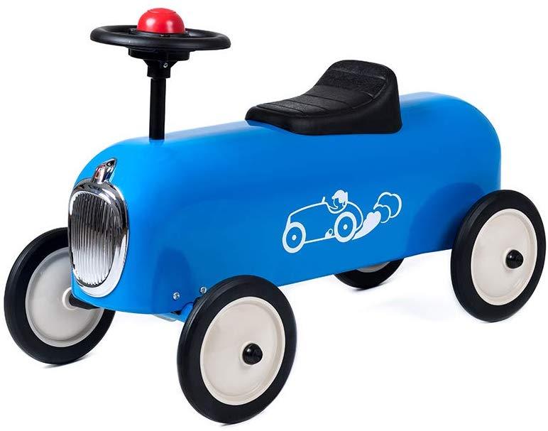 Le porteur voiture Racer est disponible en bleu ou en rouge.